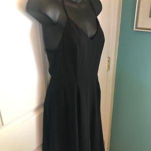 A line skater dress black